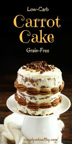 Delicious carrot cake!  You would never guess this cake is low-carb, banting, keto and Atkins diet friendly