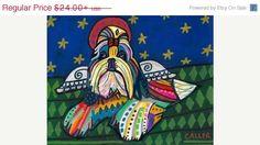 50 Off Sale Shih Tzu Angel art dog Poster by HeatherGallerArt