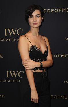Tuba Büyüküstün at the IWC SIHH booth on January 17, 2017 in Geneva. (Photo by Chris Jackson/Getty Images for IWC)