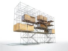 Architecture Without Building, Curated by Nikolett Erőss / Hajnalka Somogyi at Budapest's Ludwig Museum 2012. Designed by Philippe Rizzotti Architects & Yona Friedman, the main installation consists of the Spatial City, a 3D space raised up on scaffolding which alternates between occupied and empty volumes. He has long advocated the use of local materials, simple tech and DIY-arch, sustainable urban living,crisis arch planning, recycling, mobility and the role of the architect.