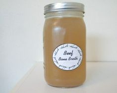 Beef bone broth made from nutrient-rich grass fed beef