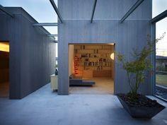 Outside In: Courtyard Home Features Street-Like Hallways   Designs & Ideas on Dornob