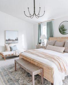 Home Bedroom, Bedroom Decor, Bedroom Inspo, Zen Master Bedroom, Master Bedrrom, Master Room Design, Light Bedroom, Bedroom Prints, Master Bath