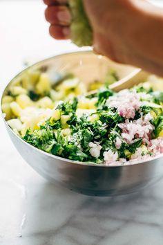 Making Pineapple Salsa   pinchofyum.com