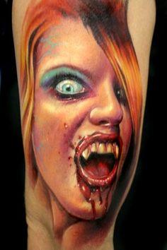 ccf585a24 Female Vampire Tattoos · robynisscary650.jpg (300×450) Scary Tattoos, Girl  Tattoos, Paul Acker