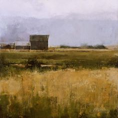 """Painting by Douglas Fryer: """"August Morning"""" Abstract Landscape Painting, Seascape Paintings, Landscape Art, Landscape Paintings, Impressionist Landscape, Farm Paintings, Paintings I Love, Beautiful Paintings, Acrylic Art"""
