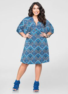 Scarf Dolman Sleeve Dress