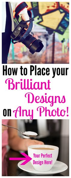 Photoshop tips for beginners. This is such a fabulous post on how to put your designs onto any photo! Perfect for product sellers and Etsy sellers who love design but don't have time to take 100s of different product photos. | brilliantbusinessmoms.com