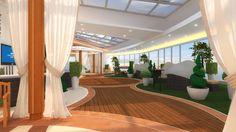 Majestic Princess cruise ship Conservatory rendering