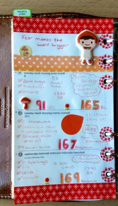 She's Eclectic: My week in my Filofax #11 - close up