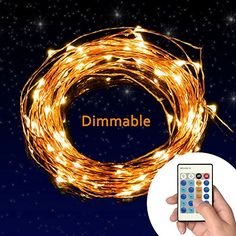 TaoTronics Dimmable LED Starry String Lights 33ft Copper Wire, UL certified 5v Power Adapter TaoTronics $19.99
