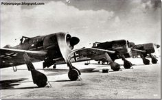 The formidable German fighter Focke-Wulf 190A-0 during test in 1941.