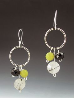 Lime Green Black and White Bead Cluster by MicheleGradyDesigns, $65.00