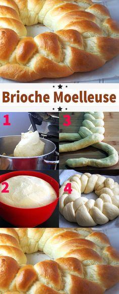 Soft brioche: the best recipe - - Quick Dessert Recipes, Quick Easy Desserts, Ww Desserts, Easy Cake Recipes, Baking Recipes, Easy Meals, Dip Recipes, Pear Dessert, Dessert Dips