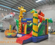jungle bouncer inflatable #inflatable #bouncerhouse #bouncecastle