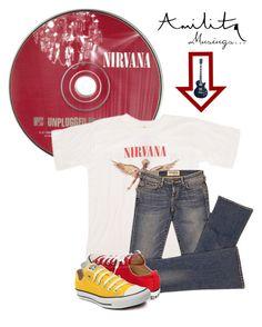 """Pure Nirvana (Amilita 13)"" by shambala-379 ❤ liked on Polyvore featuring Elizabeth and James, Converse, vintage and amilita"