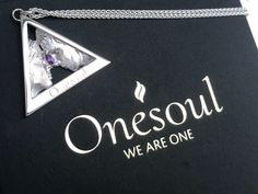 Onesoul Silver Woman to Man pendant with Amethyst gemstone
