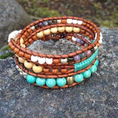 NEW  Summer Inspired Triple Wrap Bracelet!  Jasper Turquoise Wood -- Tree of Life Pendant  Handmade  Local West Coast Jewelry >> wanderlustwrists.etsy.com  --> Link in bio #bracelet #bracelets #handmade #handmadebracelet #handmadejewelry #local #etsy #wanderlust #travel #explore #victoria #leather  #travelbracelet #crystalproperties #healing #bohemian #jewelry #wrapbracelet #chanluu #turquoise #adventure #westcoast #lavastone #adventure #summer #beach
