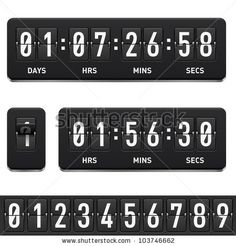 Countdown Timer Illustration On White Background Stock Vector (Royalty Free) 103746662 Free Countdown Timer, Countdown Clock, Eps Vector, Vector Graphics, Vector Stock, New Year Clock, Game Background, Game Assets, Energy Technology