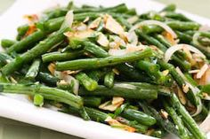 Garlic-Roasted Green Beans Recipe with Shallots and Almonds (Low-Carb, Gluten-Free, Paleo) [from KalynsKitchen.com]