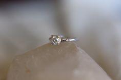Lady's 18kt White Gold Jabel round .58ct G/VS2 Diamond Engagement Ring Size 7 1/4 by CalhounsJewelers on Etsy