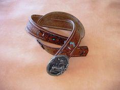 Leather belt...