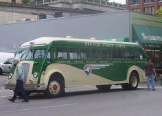 Pacific Stage Lines Train Truck, Road Train, Vancouver Seattle, Retro Bus, Bus City, Camper, Bus Coach, Bus Conversion, Bus Driver