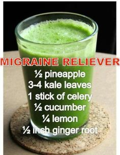 Migraine remedy. Some migraines are triggered by vitamin/mineral deficiencies. In those cases a migraineur can find some relief when those nutrients are replenished.