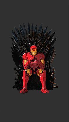 Iron Man Throne #iPhoneWallpaper