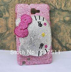 Aliexpress.com : Buy FREE SHIPPING BIG HELLO KITTY Cell Phone case with full screen rhinestone for samsung galaxy s2 s3 s4 note2 I9100 I9300 I9500 from Reliable Case for GALAXY I9300 suppliers on LoveCase $24.99