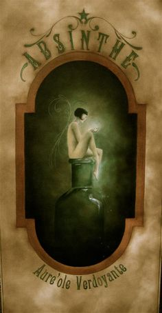 Green Halo Absinthe Print by Shannon Stamey