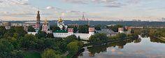 Новодевичий монастырь, Москва • 360° Аэрофотопанорама