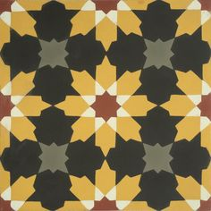 / encaustic cement tiles from hadeda / in gold and black /