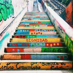 Graffiti stairs.