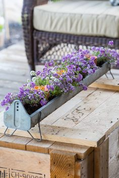 """One of our most popular series of posts has been """"Containers You Never Thought Of"""". So we decided it was time to update this post with even more new, unique garden containers for you. And we found some amazing creative planter ideas! Outdoor Flower Planters, Outdoor Flowers, Flower Pots, Galvanized Planters, Chicken Feeder Decor, Chicken Feeders, Chicken Coops, Container Plants, Container Gardening"""
