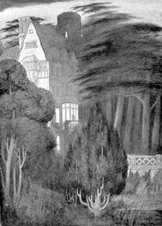 """The Ghosts by Lord Dunsany - illustrated by Sidney Sime - """"Oneleigh"""""""