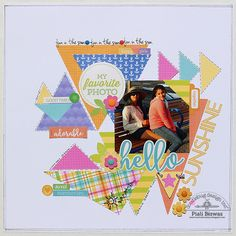 Doodlebug Design Inc Blog: Mix & Match Challenge: Hello Sunshine Layout by Piali