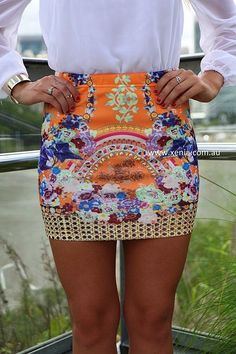 Love This Printed Shorts With White Blouse