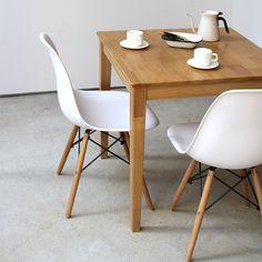 ダイニングセット 3点 テーブル W750 シェルチェア リプロダクト 2脚セット 天然木 リビングチェア チェア イス 椅子 ダイニングチェアー チェアー テーブル 食卓 木製