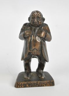 Adam Partridge Auctioneers & Valuers : A bronze caricature figure of a Jewish man inscribed : Online Auction Catalogue