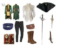 """Pirates"" by darkness-girl-101 ❤ liked on Polyvore featuring Levi's, The North Face and BKE"