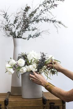 final touches…make for a perfect arrangement.