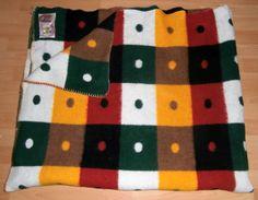 vintage blanket with label DIDAS