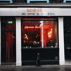 Soho grind London, England   @sohogrind was recommend to me by baristas at @crosstowndoughnuts and was much appreciated during a rainy London morning