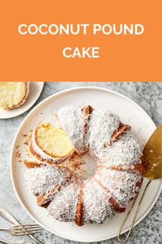 Get the recipe for Coconut Pound Cake. Coconut Pound Cakes, Coconut Desserts, Pound Cake Recipes, Coconut Recipes, No Bake Desserts, Just Desserts, Delicious Desserts, Dessert Recipes, Real Simple Recipes