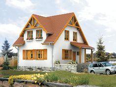 Majka (83,80 m2) to mniejsza wersja popularnego projektu Majka 2, która również posiada garaż w piwnicy. Pełna   prezentacja projektu dostępna jest na stronie: https://www.domywstylu.pl/projekt-domu-majka.php. #projekty #projekt #domy #dom #domywstylu #mtmstyl #nawąskądziałkę #wąskadziałka #aranżacje #design #architektura #home #houses