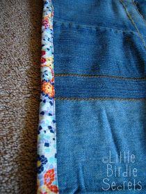 Little Birdie Secrets: denim picnic blanket quilt-along - part 3