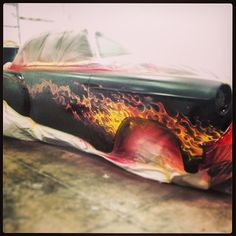 #Chevy #BelAir #Airbrush #ThaCritter Chad Mahone http://www.txhouseofhotrods.com/services/paint-body/