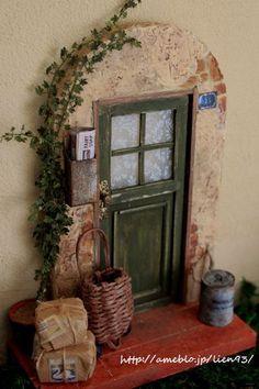 『オールドヨーロッパ風*路地裏の玄関先』出品 の画像|Lien wood working kitchen~DIYで作るナチュラルインテリア~