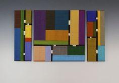 f315bafb033 Color Story Triptych by Sonya Lee Barrington (Fiber Wall Art) | Artful Home  Skinny